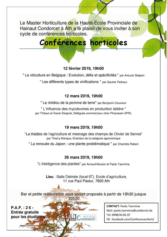 Conférences horticoles à Ath