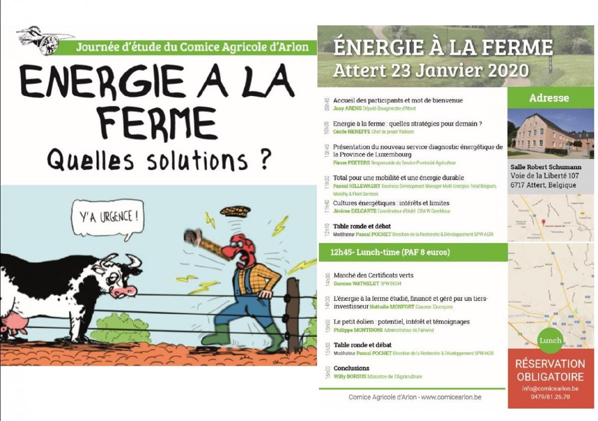 ENERGIE à la FERME. Quelles solutions ?