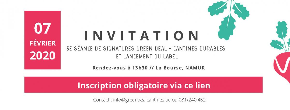 3e séance de signatures Green Deal «Cantines Durables»