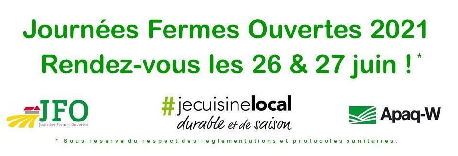 Journées Fermes Ouvertes - 26 et 27/6/21 APPEL AUX CANDIDATS AGRICULTEURS