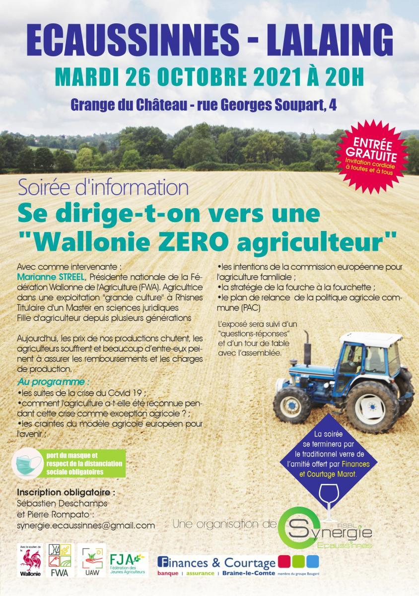 Se dirige-t-on vers une Wallonie ZERO agriculteur ?